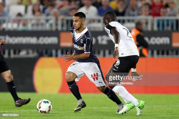 Adam Ounas of Bordeaux during the Ligue 1 match between Girondins Bordeaux and Fc Metz at Nouveau Stade de Bordeaux on April 8 2017 in Bordeaux France