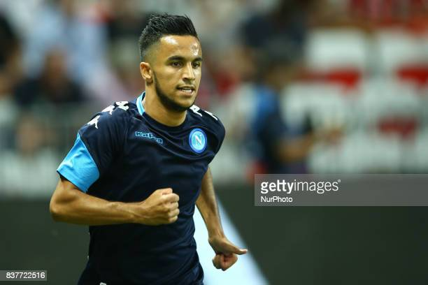Adam Ounas of Napoli during the UEFA Champions League Qualifying PlayOffs round second leg match between OGC Nice and SSC Napoli at Allianz Riviera...