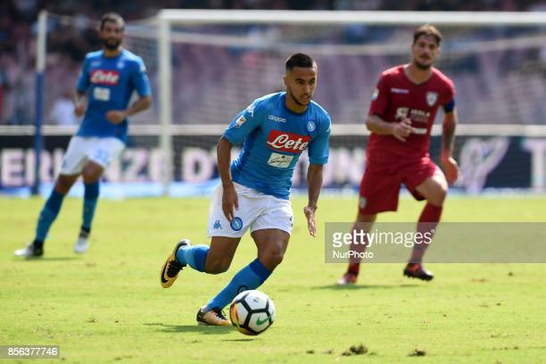 Adam Ounas of SSC Napoli during the Serie A TIM match between SSC Napoli and Cagliari Calcio at Stadio San Paolo Naples Italy on 1 October 2017