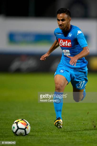 Adam Ounas of SSC Napoli in action during the preseason friendly football match between Carpi FC and SSC Napoli