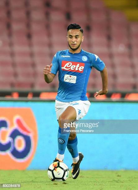 Adam Ounas of SSC Napoli in action during the preseason friendly match between SSC Napoli and Espanyol at Stadio San Paolo on August 10 2017 in...