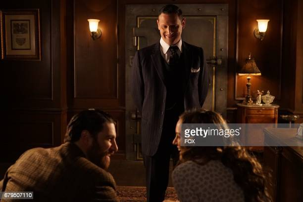 Adam Pally guest star Tim Robinson and Leighton Meester in the 'The Godfriender' episode of MAKING HISTORY airing Sunday April 23 on FOX