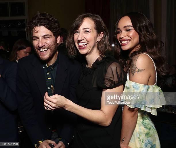 Adam Pally Kristen Schaal and Cleopatra Coleman attend the 2017 Winter TCA Tour FOX AllStar Party at Langham Hotel on January 11 2017 in Pasadena...