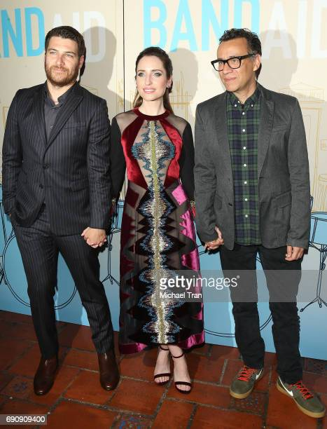 Adam Pally Zoe ListerJones and Fred Armisen attend the Los Angeles premiere of IFC Films' 'Band Aid' held at The Theatre at Ace Hotel on May 30 2017...