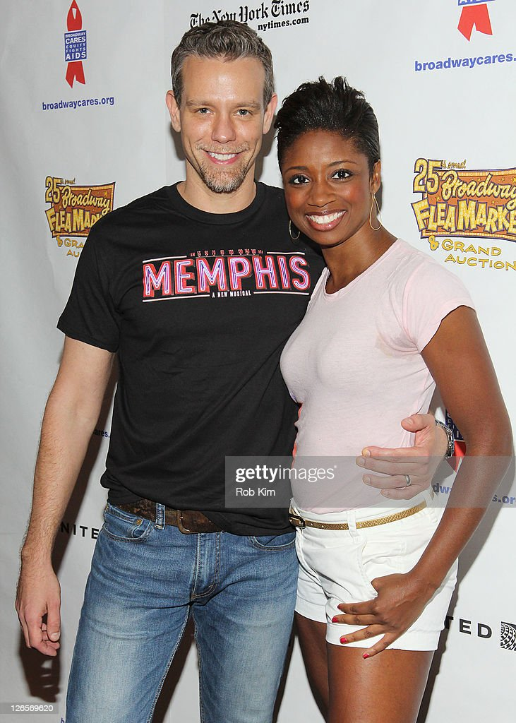 <a gi-track='captionPersonalityLinkClicked' href=/galleries/search?phrase=Adam+Pascal&family=editorial&specificpeople=618568 ng-click='$event.stopPropagation()'>Adam Pascal</a> (L) and <a gi-track='captionPersonalityLinkClicked' href=/galleries/search?phrase=Montego+Glover&family=editorial&specificpeople=2235786 ng-click='$event.stopPropagation()'>Montego Glover</a> attend the 25th annual Broadway Flea Market at The Bernard B. Jacobs Theatre on September 25, 2011 in New York City.