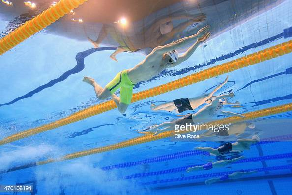 Adam Peaty of County of Derby competes in the Men's 100m Breaststroke Final on day four of the British Swimming Championships at the London Aquatics...