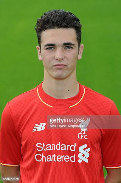 Adam Phillips of Liverpool poses for a portrait at the Liverpool Football Club Academy on July 28 2015 in Kirkby England