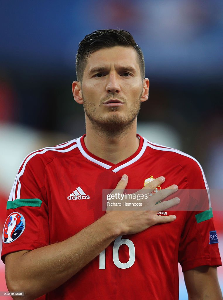 Adam Pinter of Hungary is seen prior to the UEFA EURO 2016 round of 16 match bewtween Hungary and Belgium at Stadium Municipal on June 26, 2016 in Toulouse, France.