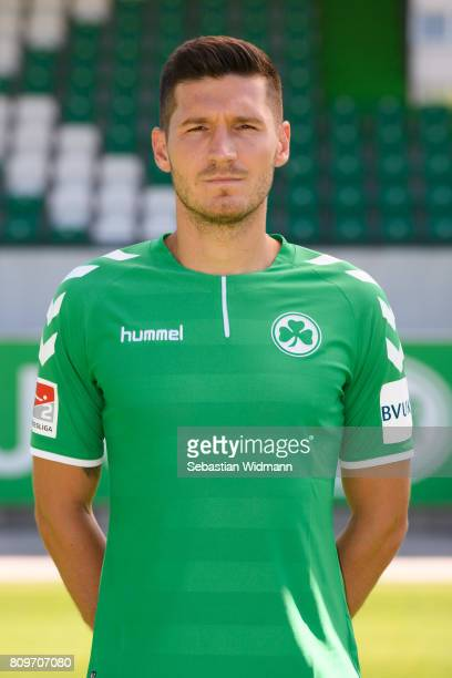Adam Pinter of SpVgg Greuther Fuerth poses during the team presentation at Sportpark Ronhof on July 6 2017 in Fuerth Germany