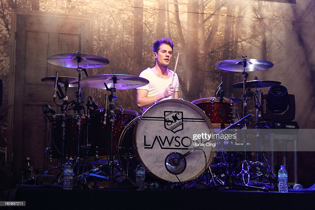 <a gi-track='captionPersonalityLinkClicked' href=/galleries/search?phrase=Adam+Pitts&family=editorial&specificpeople=7078662 ng-click='$event.stopPropagation()'>Adam Pitts</a> of Lawson performs on stage at O2 Shepherd's Bush Empire on March 1, 2013 in London, England.