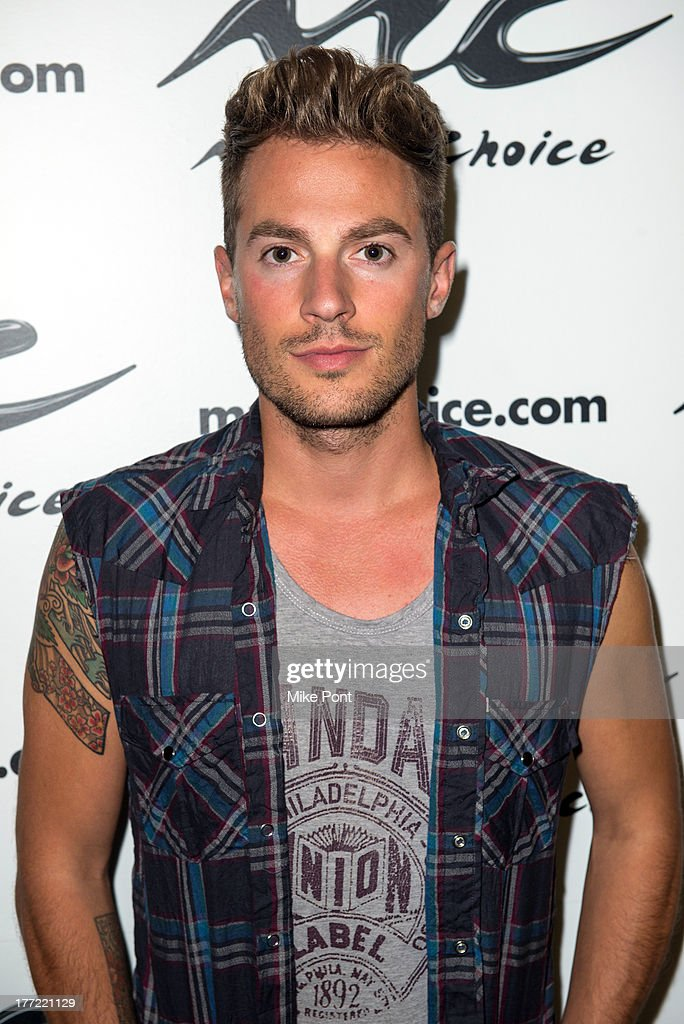 <a gi-track='captionPersonalityLinkClicked' href=/galleries/search?phrase=Adam+Pitts&family=editorial&specificpeople=7078662 ng-click='$event.stopPropagation()'>Adam Pitts</a> of Lawson visits Music Choice on August 22, 2013 in New York City.