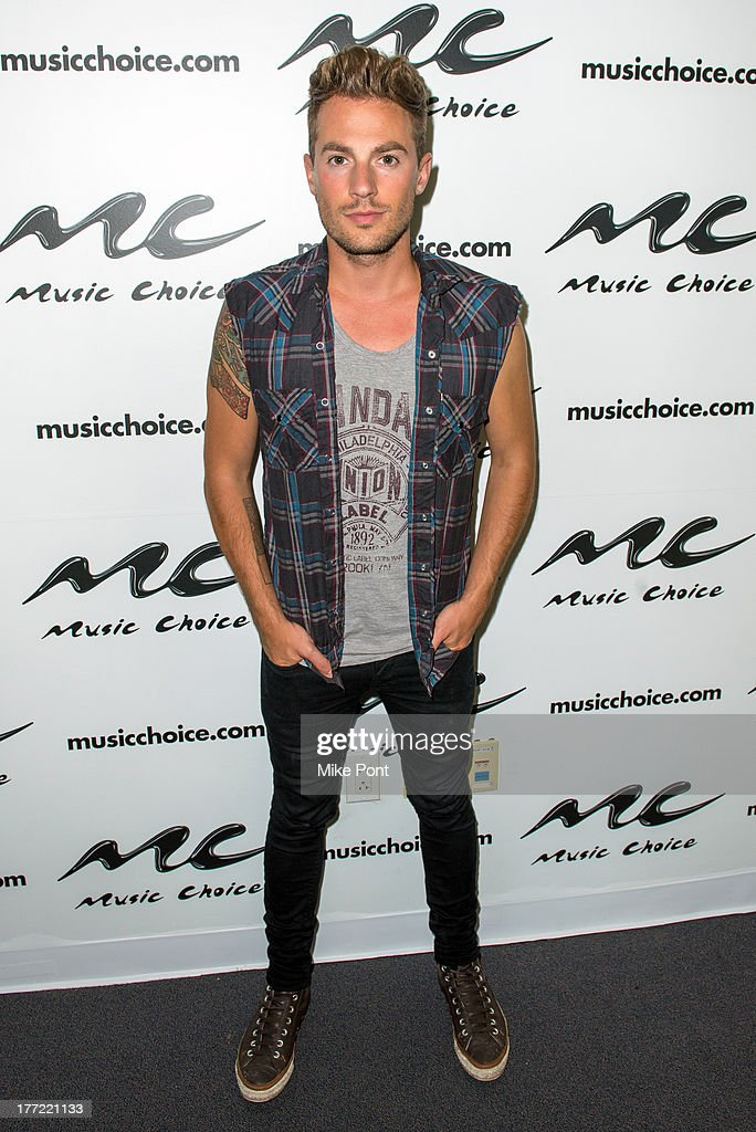 Adam Pitts of Lawson visits Music Choice on August 22, 2013 in New York City.