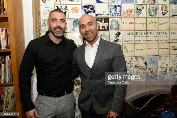 Adam Pollyen and Raul Penaranda attend the Raul Penaranda presentation during New York Fashion Week at The Society Of Ilustrators on February 10 2017...