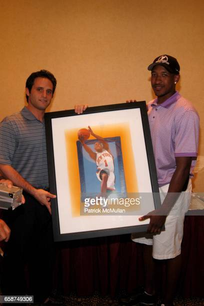 Adam Port and Chris Duhon attend Hamptons Magazine presents HAMPTONS GOLF CLASSIC V at Hampton Hills Golf Country Club on June 29 2009 in Westhampton...