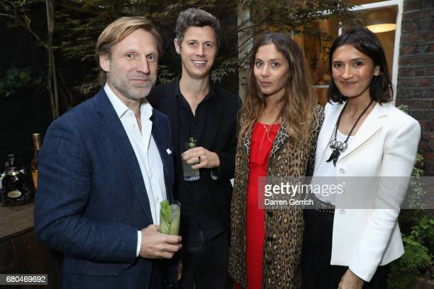 Adam Prideaux George Northcott Quentin Jones and Hikari Yokoyama attend the Clos19 Launch Dinner #Clos19Moments on May 8 2017 in London England