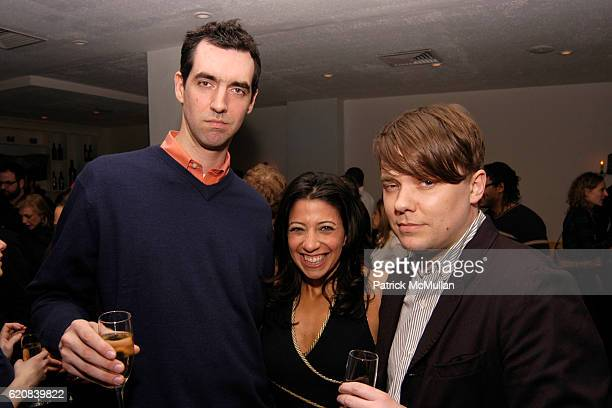 Adam Putnam Lisa Anastos and Stephen Prina attend Whitney Biennial Artists Party at Trata Estiatoria on March 8 2008 in New York City
