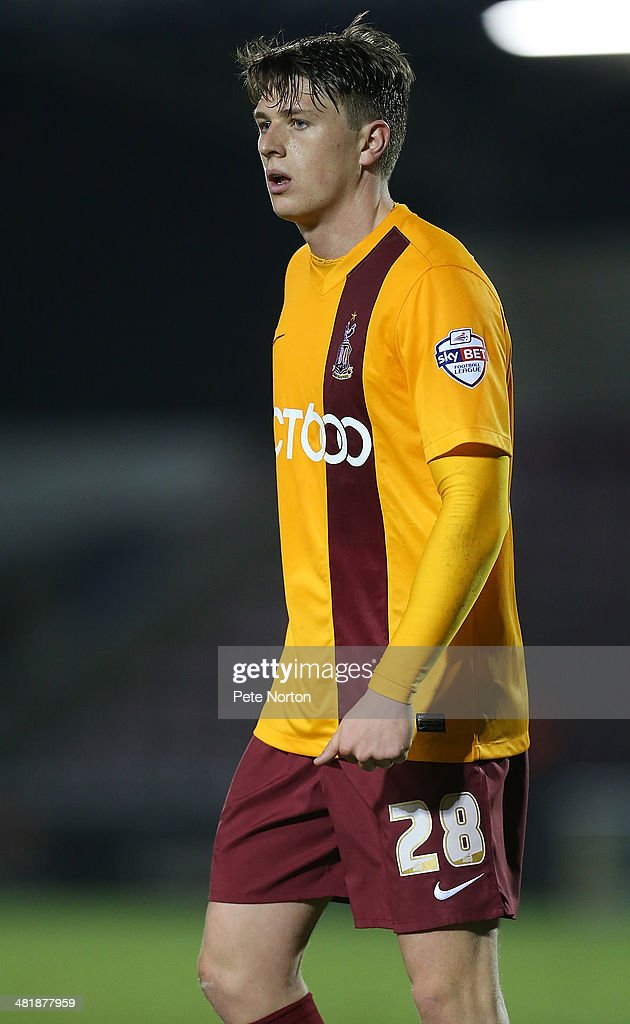Adam Reach of Bradford City in action during the Sky Bet League One match between Coventry City and Bradford City at Sixfields Stadium on April 1, 2014 in Northampton, England.
