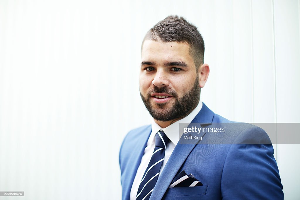 Adam Reynolds poses during the NSW Blues State of Origin team announcement at The Star on May 23, 2016 in Sydney, Australia.