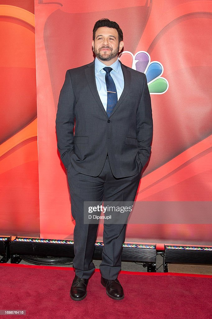 <a gi-track='captionPersonalityLinkClicked' href=/galleries/search?phrase=Adam+Richman&family=editorial&specificpeople=5635728 ng-click='$event.stopPropagation()'>Adam Richman</a> attends the 2013 NBC Upfront Presentation Red Carpet Event at Radio City Music Hall on May 13, 2013 in New York City.