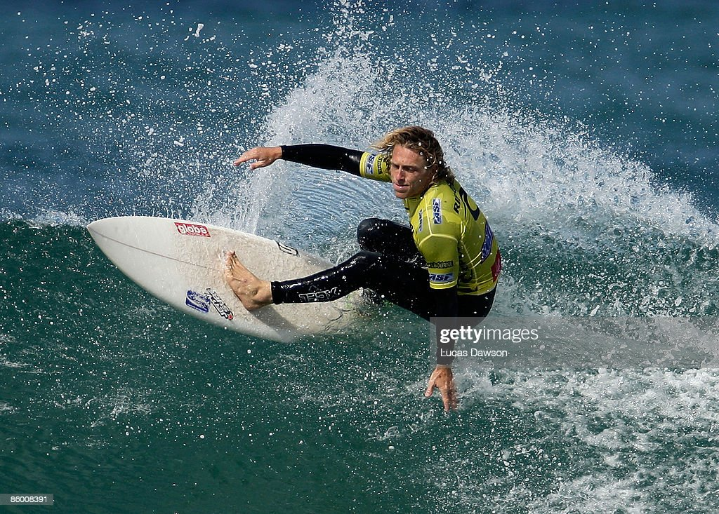 Adam Robertson of Australia surfs in the Semi Final of the Rip Curl Pro on April 17 2009 in Bells Beach Australia