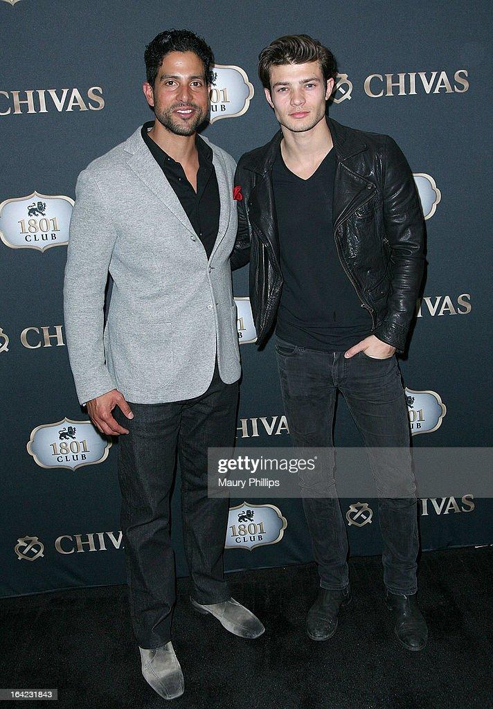 Adam Rodriguez and Eugen Bauder attend LA's Chivas Regal 1801 Club LA launch party on March 20, 2013 in Los Angeles, California.