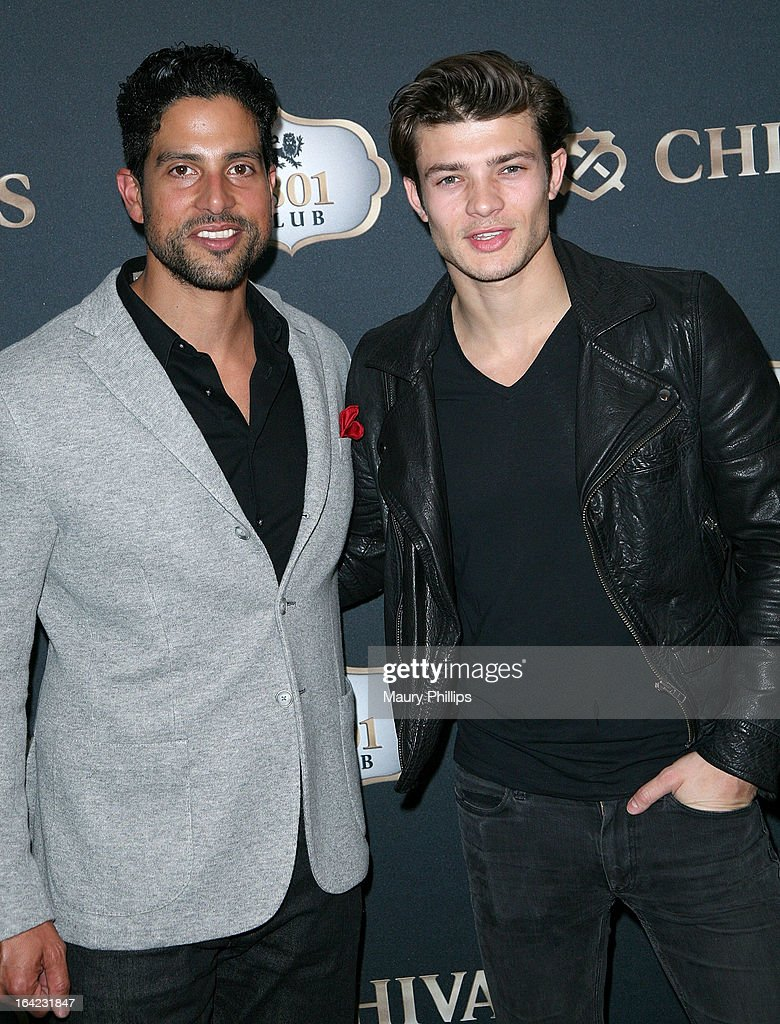 Adam Rodriguez and Eugen Bauder attend LA's Chivas Regal 1801 Club LA launch party on March 20, 2013 in Los Angeles, California.