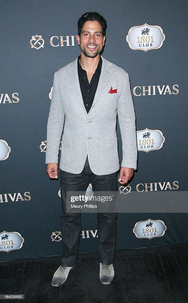 Adam Rodriguez attends LA's Chivas Regal 1801 Club LA launch party on March 20, 2013 in Los Angeles, California.