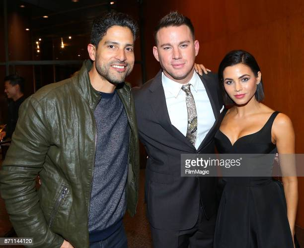 Adam Rodriguez Channing Tatuma and Jenna Dewan Tatum attend the HBO 'War Dog A Soldier's Best Friend' premiere at DGA Theater on November 6 2017 in...