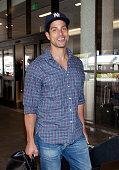 Adam Rodriguez is seen arriving at Los Angeles International Airport on November 02 2013 in Los Angeles California