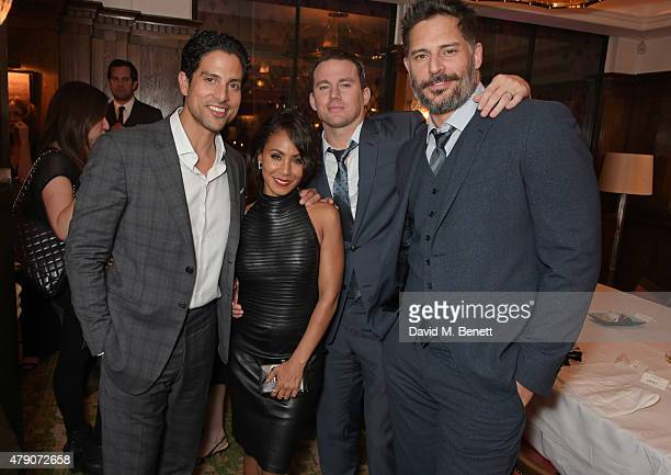Adam Rodriguez Jade Pinkett Smith Channing Tatum and Joe Manganiello attend a postpremiere dinner for 'Magic Mike XXL' at The Ivy on June 30 2015 in...