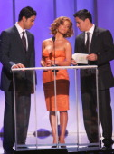 Adam Rodriguez Jessica Simpson and Jay Hernandez during 2006 NCLR ALMA Awards Show at Shrine Auditorium in Los Angeles California United States