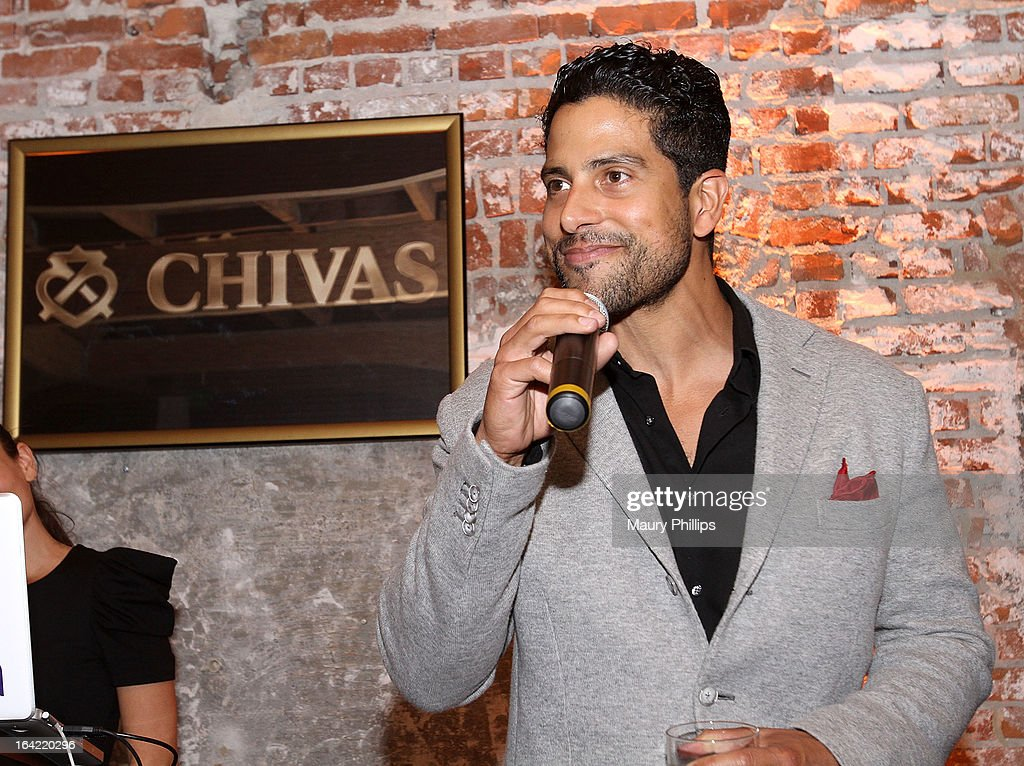 Adam Rodriguez toasts to chivarly and brotherhood at LA's Chivas Regal 1801 Club LA launch party on March 20, 2013 in Los Angeles, California.