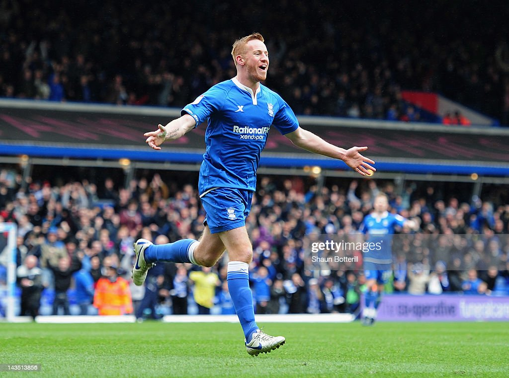 Adam Rooney of Birmingham City celebrates after scoring during the npower Championship match between Birmingham City and Reading at St Andrew's...