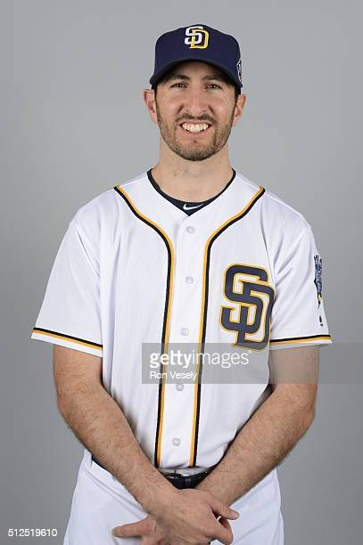 Adam Rosales of the San Diego Padres poses during Photo Day on Friday February 26 2016 at Peoria Stadium in Peoria Arizona