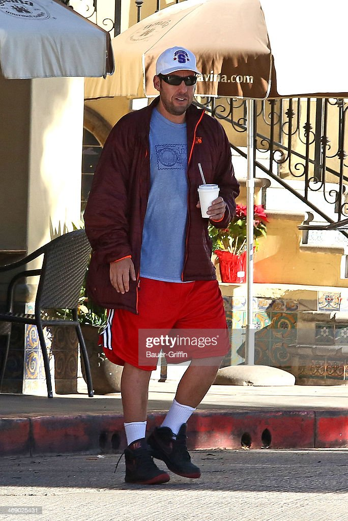 Adam Sander is seen on February 12, 2014 in Los Angeles, California.