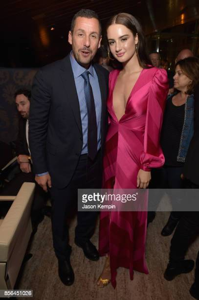 Adam Sandler and Grace Van Patten attend the New York Film Festival screening of The Meyerowitz Stories at Alice Tully Hall on October 1 2017 in New...
