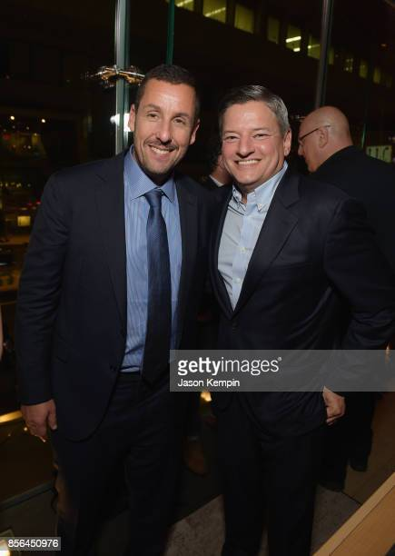 Adam Sandler and Netflix Chief Content Officer Ted Sarandos attend the New York Film Festival screening of The Meyerowitz Stories at Alice Tully Hall...
