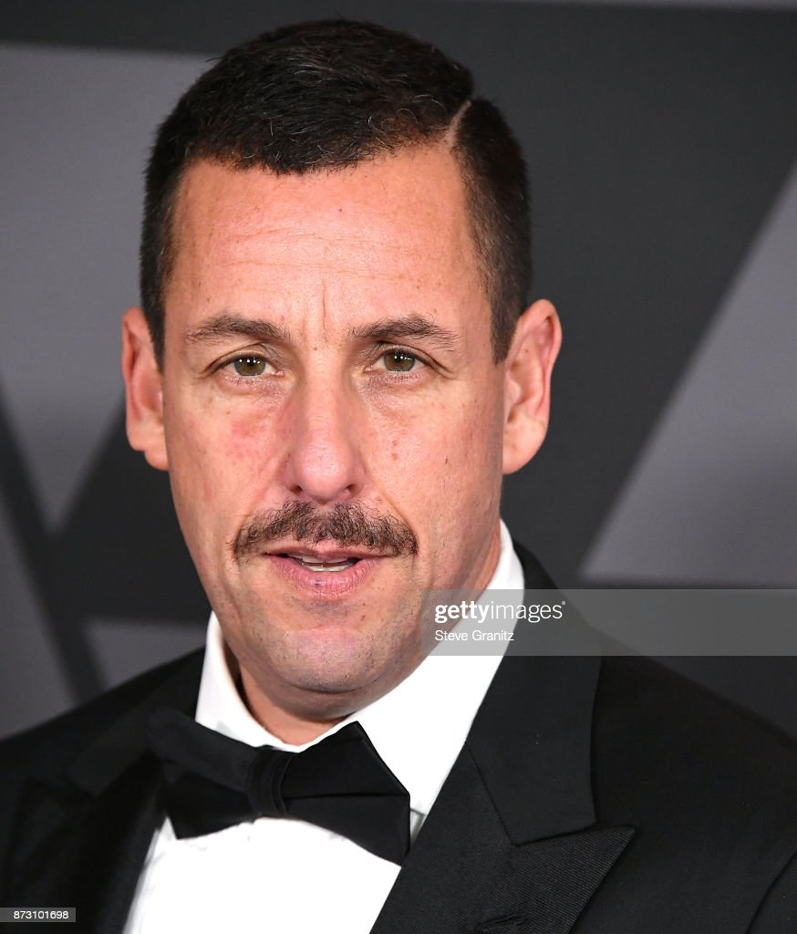 Adam Sandler arrives at the Academy Of Motion Picture Arts And Sciences' 9th Annual Governors Awards at The Ray Dolby Ballroom at Hollywood & Highland Center on November 11, 2017 in Hollywood, California.