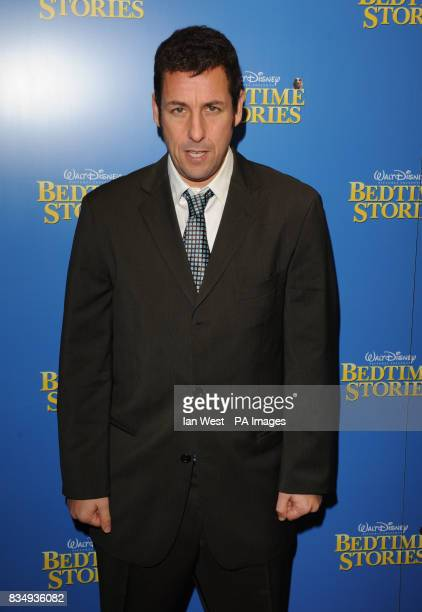 Adam Sandler arrives at the premiere of Bedtime Stories at the Odeon cinema in Kensington central London