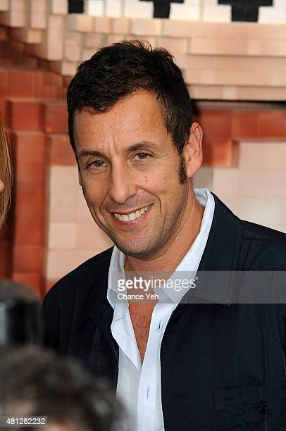 Adam Sandler attends 'Pixels' New York premiere at Regal EWalk on July 18 2015 in New York City