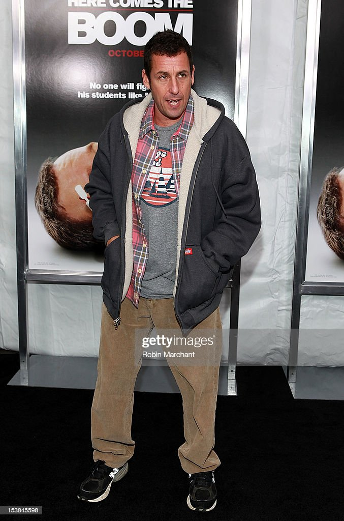 <a gi-track='captionPersonalityLinkClicked' href=/galleries/search?phrase=Adam+Sandler&family=editorial&specificpeople=202205 ng-click='$event.stopPropagation()'>Adam Sandler</a> attends the 'Here Comes The Boom' premiere at AMC Loews Lincoln Square on October 9, 2012 in New York City.