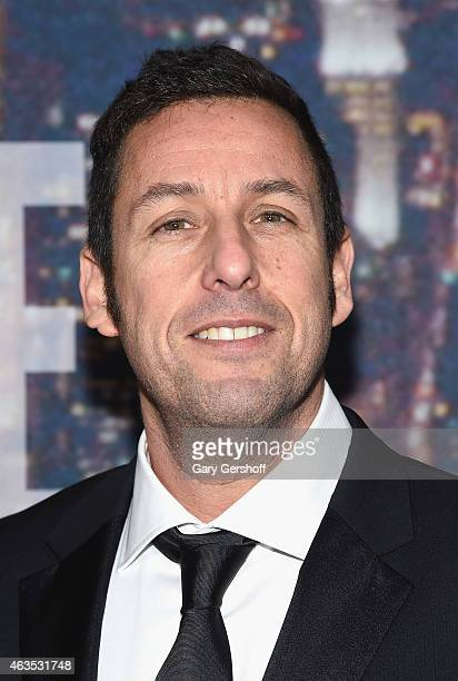 Adam Sandler attends the SNL 40th Anniversary Celebration at Rockefeller Plaza on February 15 2015 in New York City