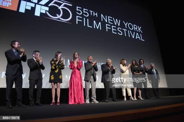 Adam Sandler Ben Stiller Elizabeth Marvel Grace Van Patten Judd Hirsch Randy Newman Rebecca Miller Jen Lame Adam Driver and Dustin Hoffman speak...
