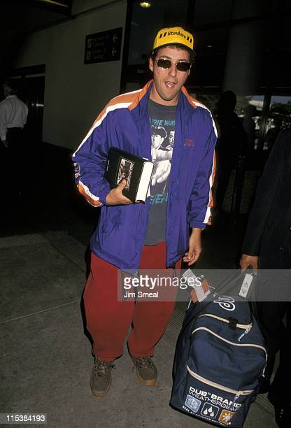 Adam Sandler during Adam Sandler Sighting at LAX March 30 1998 at Los Angeles International Airport in Los Angeles California United States