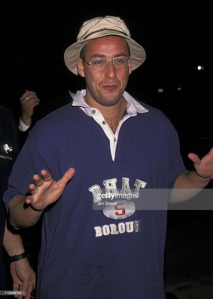 <a gi-track='captionPersonalityLinkClicked' href=/galleries/search?phrase=Adam+Sandler&family=editorial&specificpeople=202205 ng-click='$event.stopPropagation()'>Adam Sandler</a> during Universal's Premiere of 'Bulletproof' - August 28, 1996 in Los Angeles, California, United States.