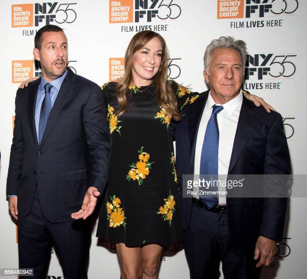Adam Sandler Elizabeth Marvel and Dustin Hoffman attend the 55th New York Film Festival 'Meyerowitz Stories' at Alice Tully Hall on October 1 2017 in...