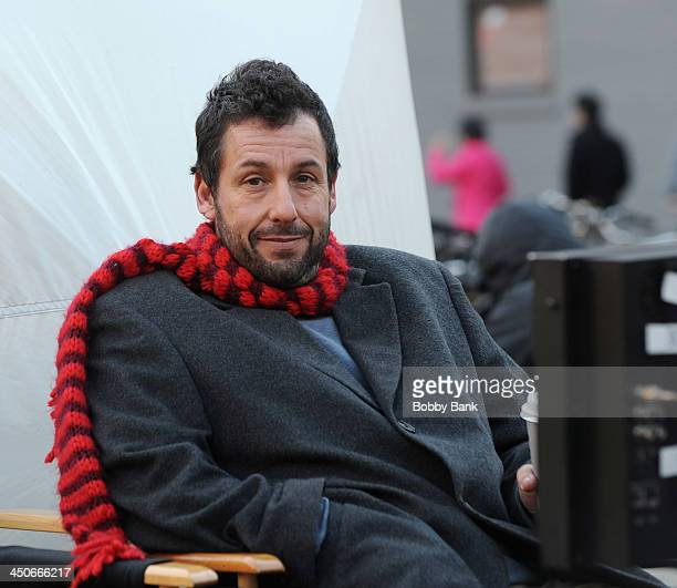 Adam Sandler on the set of 'The Cobbler' on November 19 2013 in New York City