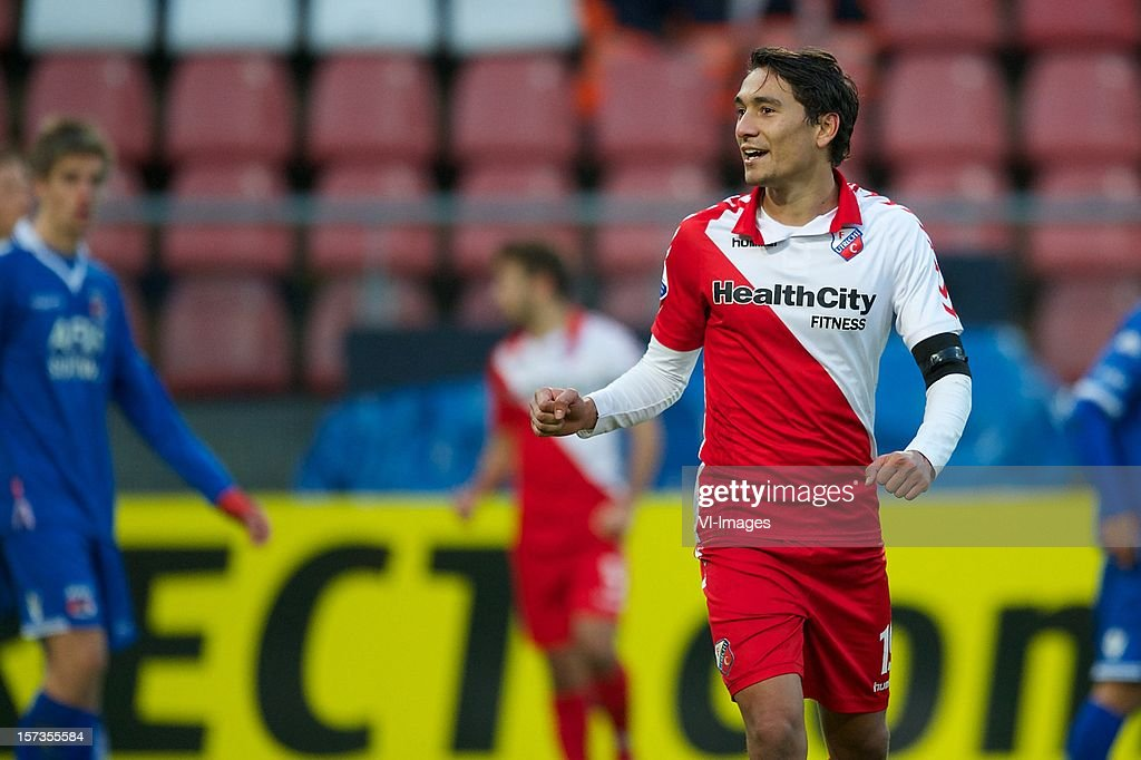 Adam Sarota of FC Utrecht during the Dutch Eredivisie match between FC Utrecht and AZ Alkmaar at the Galgenwaard Stadium on December 02, 2012 in Utrecht, The Netherlands.