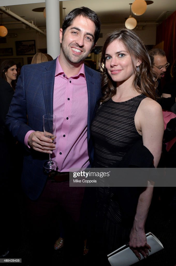Adam Saunders (L) and Marian Lorraine attends the 'About Alex' Premiere after party during the 2014 Tribeca Film Festival at Kutsher's Tribeca on April 17, 2014 in New York City.