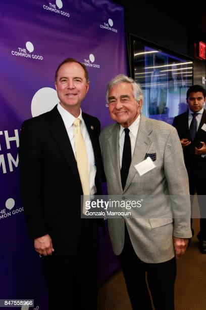 Adam Schiff and Leonard Lauren during the The Common Good's presents 'A conversation with Congressman Adam Schiff' hosted by former Homeland Security...